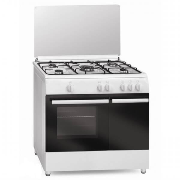Vitrokitchen cocina vitrokitchen cb96pbb blanca 5 fuegos for Cocina gas butano sin horno